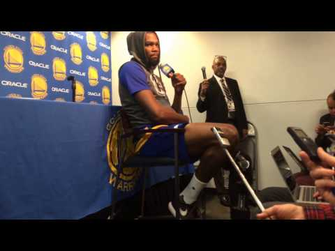 "Kevin Durant also mum on if initial diagnosis from MRI was fracture: ""I'll keep that in house, too"""