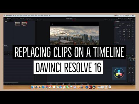 Replacing a Clip on a Timeline | Davinci Resolve 16