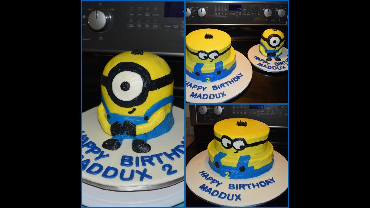 all buttercream minion cake pastel de minion YouTube