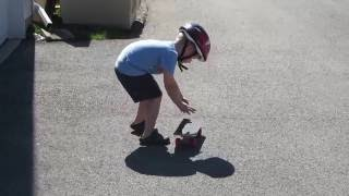 First skateboard and First kick flip