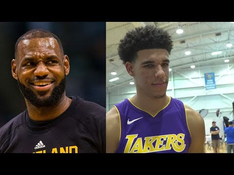 Download Youtube: LeBron reacts to Lonzo Ball Picking LeBron James Over Kobe Bryant