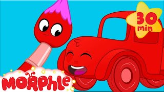 Towing With Colors - My Magic Pet Morphle | Learning For Kids | Construction Videos For Kids Video