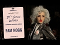 Catwalk hair:  50's style for Pam Hogg at London Fashion Week AW17