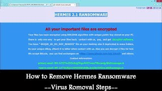 Got Attacked By Hermes Ransomware How To Remove Hermes Ransomware Virus Removal Steps