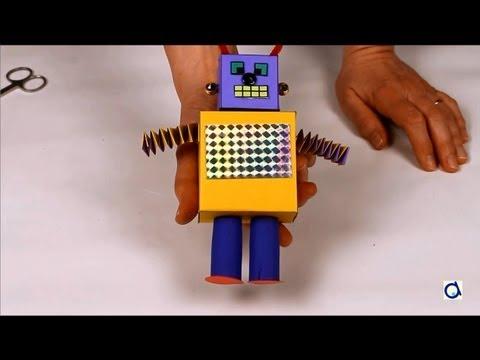 fabriquer un robot en carton youtube. Black Bedroom Furniture Sets. Home Design Ideas