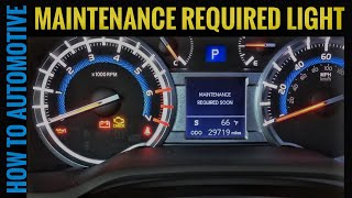2011 camry maintenance required light reset
