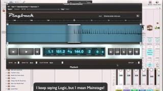 Mainstage: Syncing Midi Clock Signal to Backing Tracks/Click and more