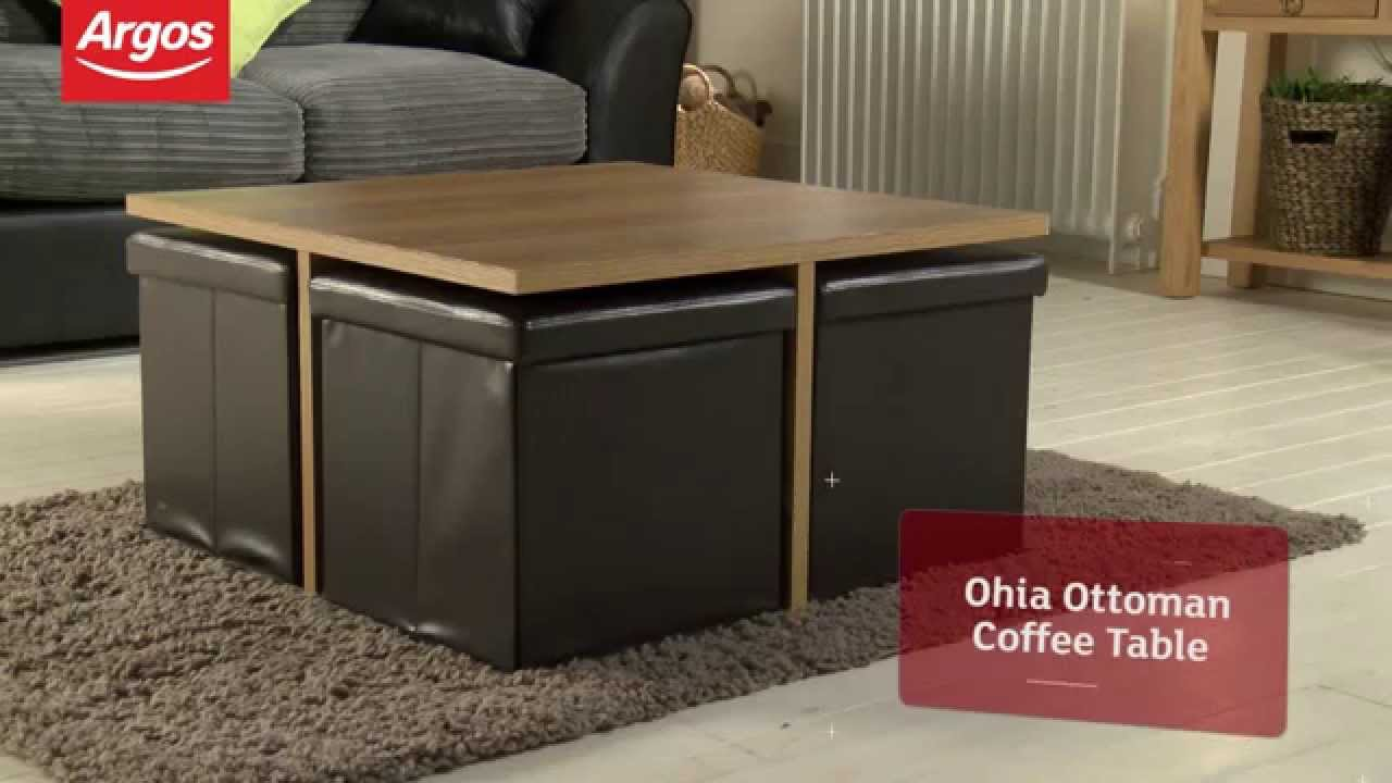 Ohio Ottoman Chocolate And Oak Effect Coffee Table Argos Review   YouTube
