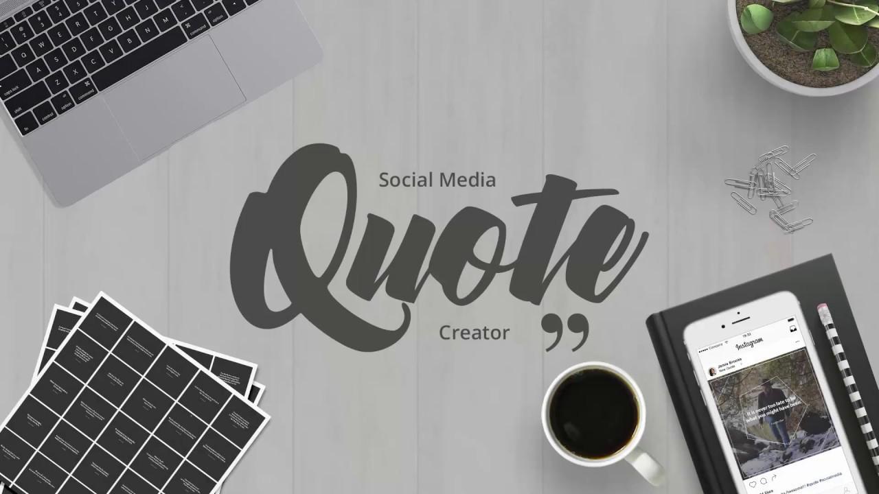 Quotes Creator Social Media Quotes Creator  Youtube