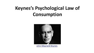 Keynes's psychological Law of consumption