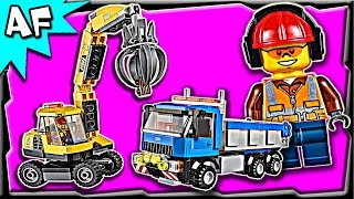 Lego City Construction Excavator & Truck 60075 Stop Motion Build Review