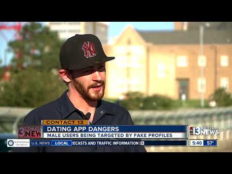 Dating app fake profiles targeting male users - YouTube