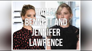 Haley Bennett And Jennifer Lawrence