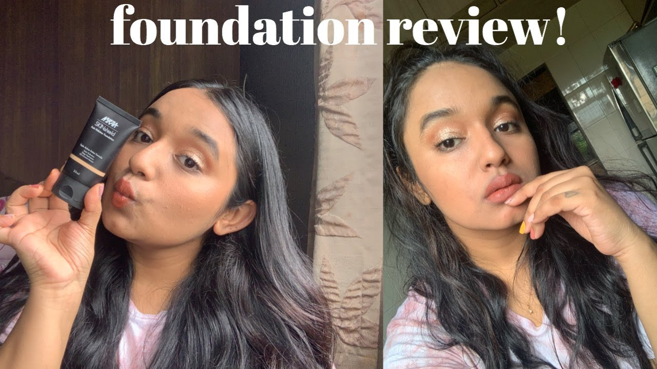 Nykaa Skinsheild Anti Pollution foundation! | Review , demo & wear test | Medium/olive skintone