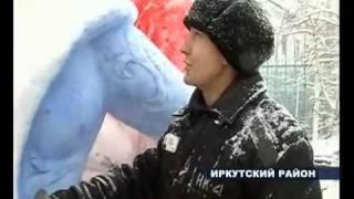 Cнежные скульптуры в колонии (ИК-4, Плишкино)