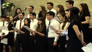 """24.04.2015 vineri seara: grupul coral """"Unison"""" , predica: Lica Buburuzan"""