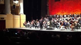 Tenor Miguel Mena Cantando Olim lacus colueram del Carmina Burana con Orquesta Sinfonica de Yucatan