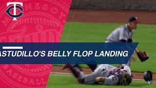 Astudillo trips, faceplants after force, gets teased by Berrios