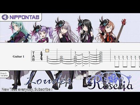 【Guitar TAB】LOUDER - BanG Dream! バンドリ! 〚Roselia〛ギター tutorial & tab譜
