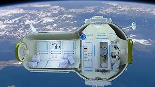 Space hotel unveiled الاعلان عن مشروع فندق في الفضاء