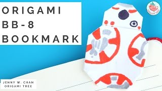 Star Wars Origami - Post-it® Note BB-8 Bookmark - Star Wars Paper Craft