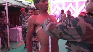 Indian Army Chest Measurement Test | 77 - 85 Cm | Live From Ground Army Rally Bharti News 2019