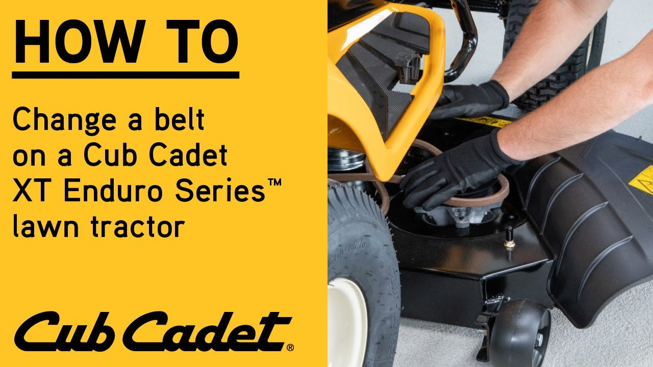 How to Change the PTO Belt on Your Riding Lawn Mower   Enduro ...