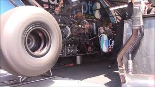 Top Fuel Dragster and Funny car Warm-Ups at Thunder Valley Nationals 2018
