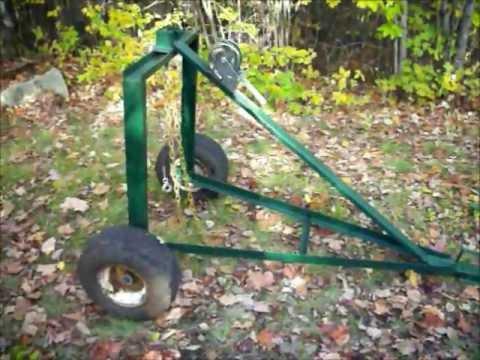 Homemade ATV Log Skidding Arch: Upclose video