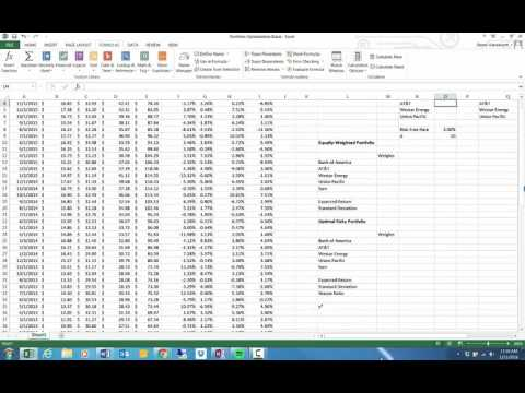 how to use excel solver to maximize sharpe ratio