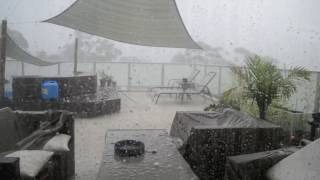 Hilarious Footage - Cricket Ball Size Hail Storm in Sydney