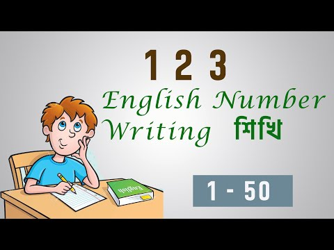 123 English Numbers Writing for kids