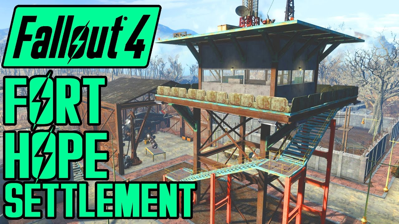 Fallout 4 - Fort Hope - Epic Military Base Settlement - Showcase - MOD