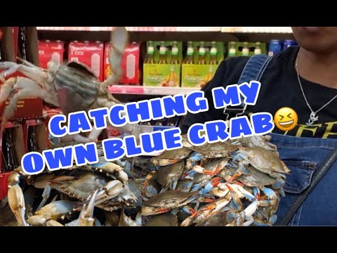 CATCHING AND CLEANING MY OWN BLUE CRAB 🦀 😆