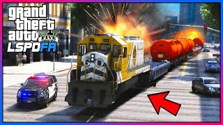 This train was DESTROYING the city!! (GTA 5 Mods - LSPDFR Gameplay)