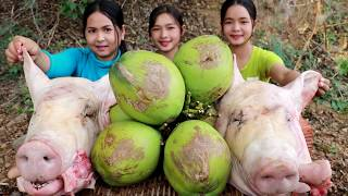 Braised Pig's Head With Coconut Water Recipe - Cooking Pork Heads - My Food My Lifestyle