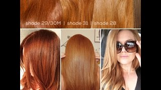 Our Red + Strawberry Blonde Shades | girlgetglamorousHAIR Clip In Hair Extensions | girlgetglamorous HAIR