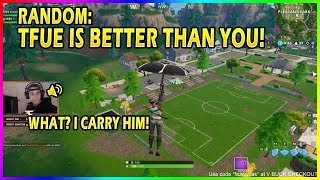 RANDOM TELLS CLOAKZY THAT HE'S TRASH AND TFUE IS BETTER! - Fortnite funny moments
