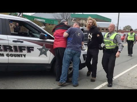 Fight Breaks Out At Pittsboro Confederate Statue Protest