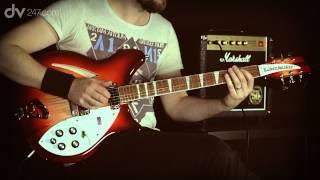 Rickenbacker 360 Electric Guitar Fireglo Tone Demo