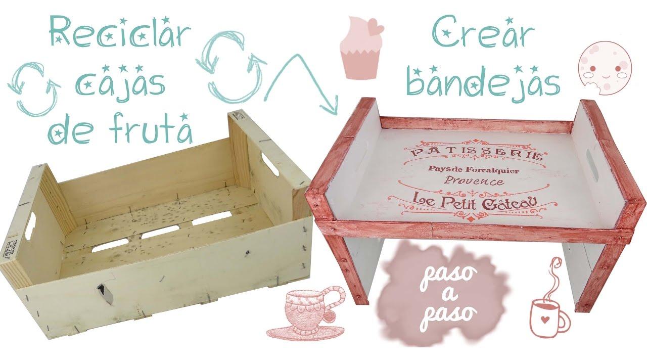C mo hacer una bandeja de madera reciclando cajas de fruta - Como hacer una caja de madera paso a paso ...