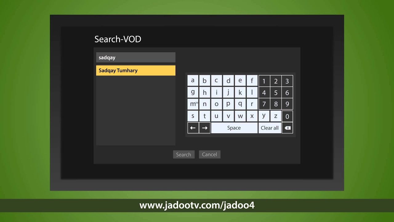How to add xml on emedia Jadoo TV by robin hood