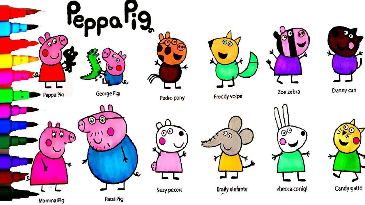 coloring peppa pig daddy pig mummy pig george u0026 friends