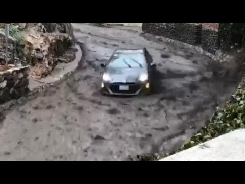 Driver Who Slid Down Street During Mudslide: 'The Force Was Amazing'