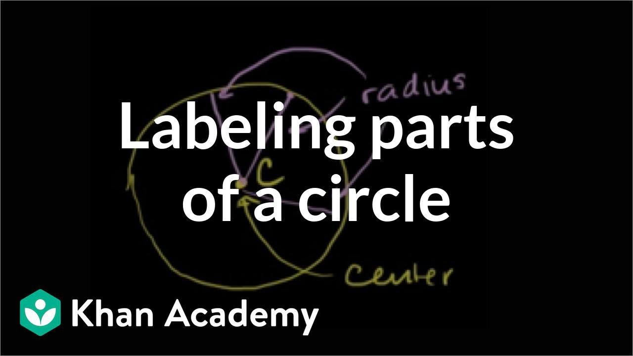 Labeling parts of a circle (video)   Khan Academy [ 720 x 1280 Pixel ]