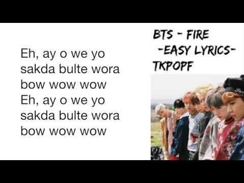 BTS FIRE - [Easy Lyrics]