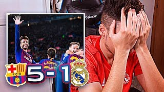 REACCIONES DE UN HINCHA Barcelona vs Real Madrid 5-1 *LA MAYOR HUMILLACIÓN*