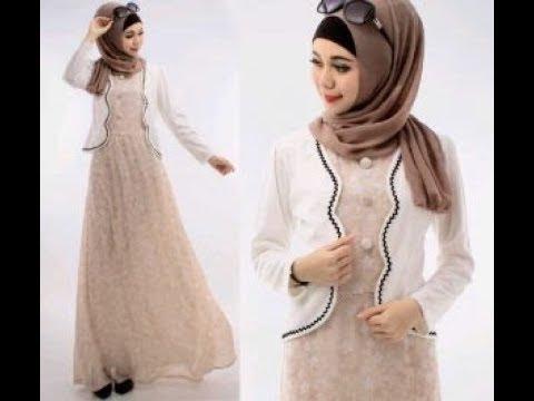 Model Gamis Batik Kombinasi Blazer Modis Dan Trendy Youtube