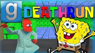Gmod Deathrun Funny Moments Spongebob Edition! Spongebob Dick, Krabby Patties of Death, and More!