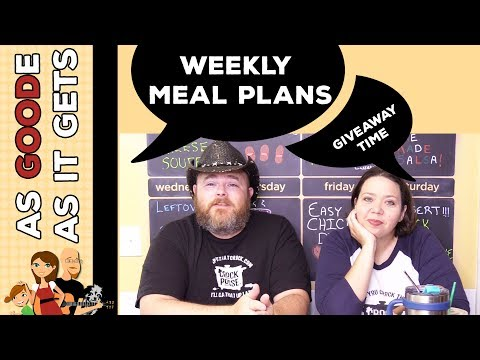 Weekly Chat: Our New Giveaway/Finding All Our Stuff On Social Media/Finding Our Weekly Meal Plans